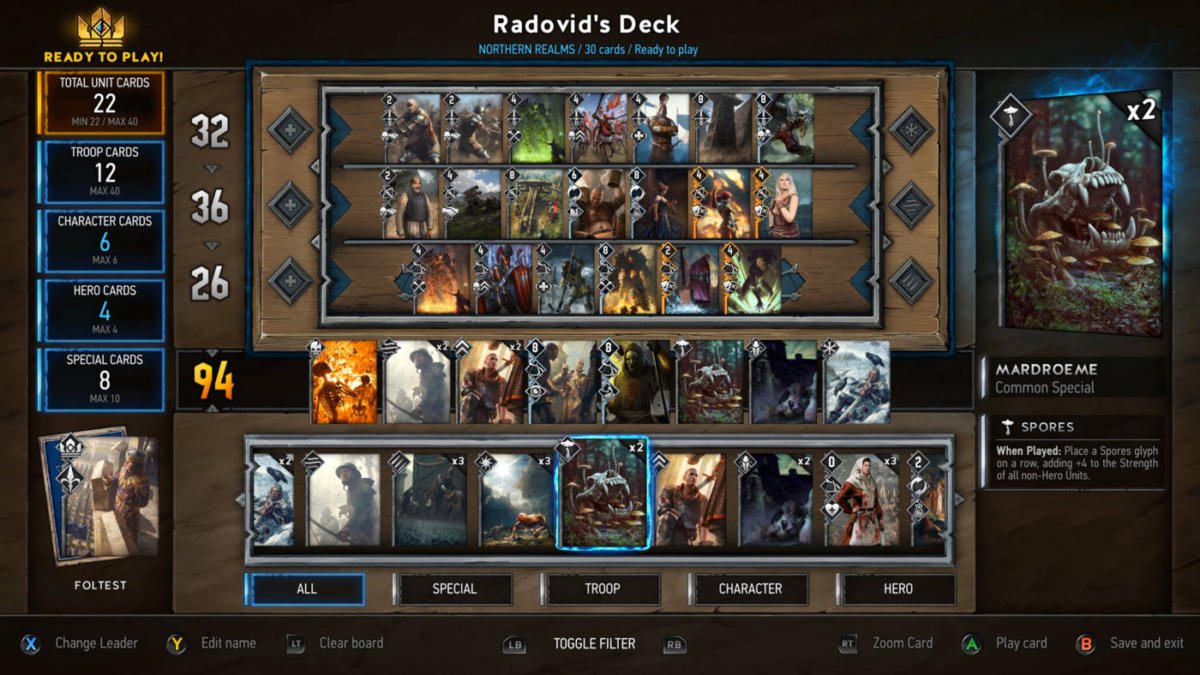Gwent: The Witcher Card Game Resetterà I Progressi Nell'open Beta 5 - Hynerd.it
