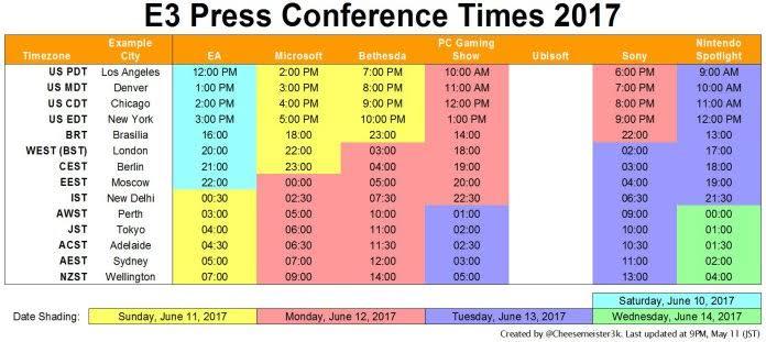 [Aggiornato 17/5]E3 2017: date e orari di tutte le conferenze annunciate - IMG 5118