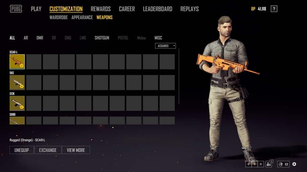 Playerunknown's Battlegrounds, aggiunte le skin per le armi.