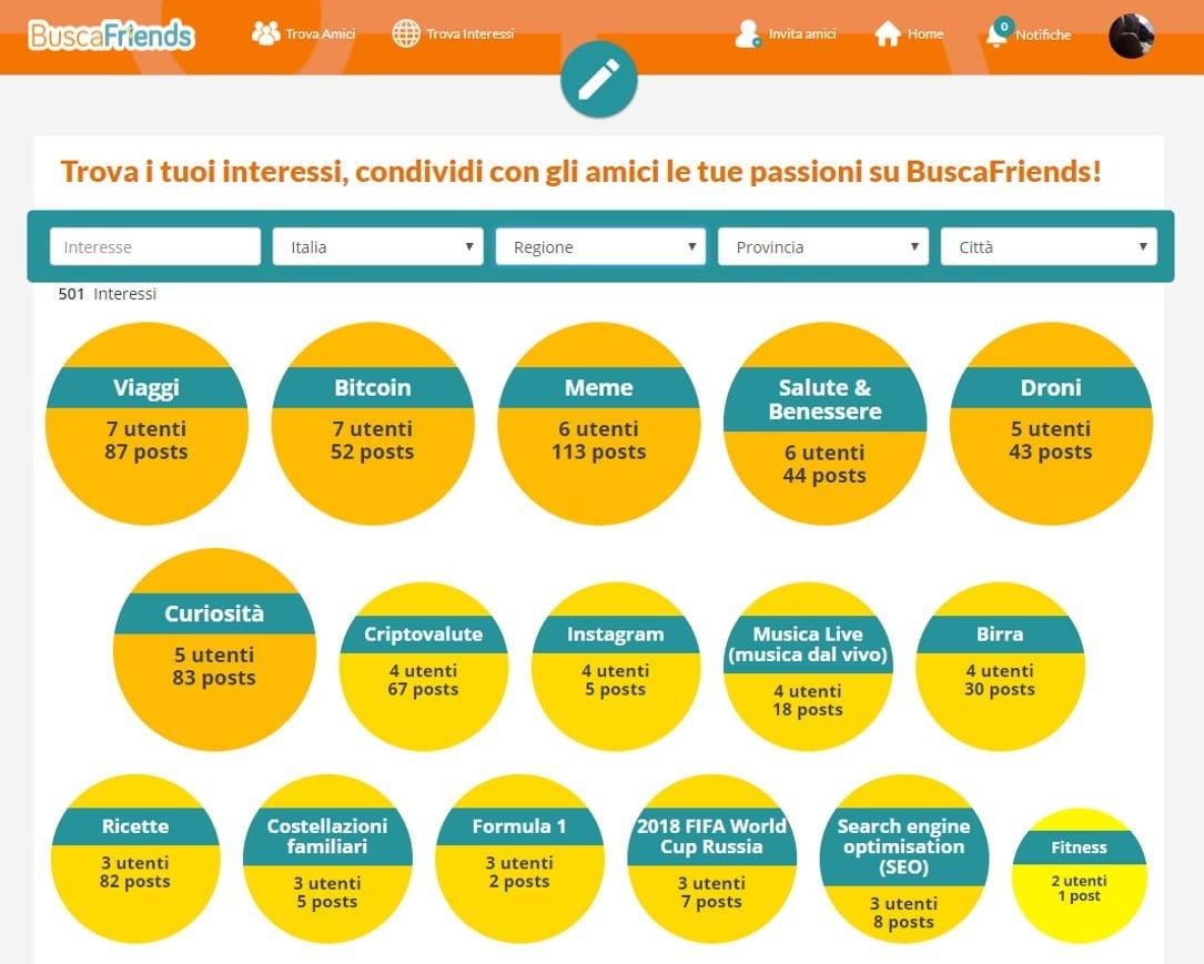 Buscafriends, Il Social Per Fare Amicizia In Funzione Dei Tuoi Interessi 5 - Hynerd.it