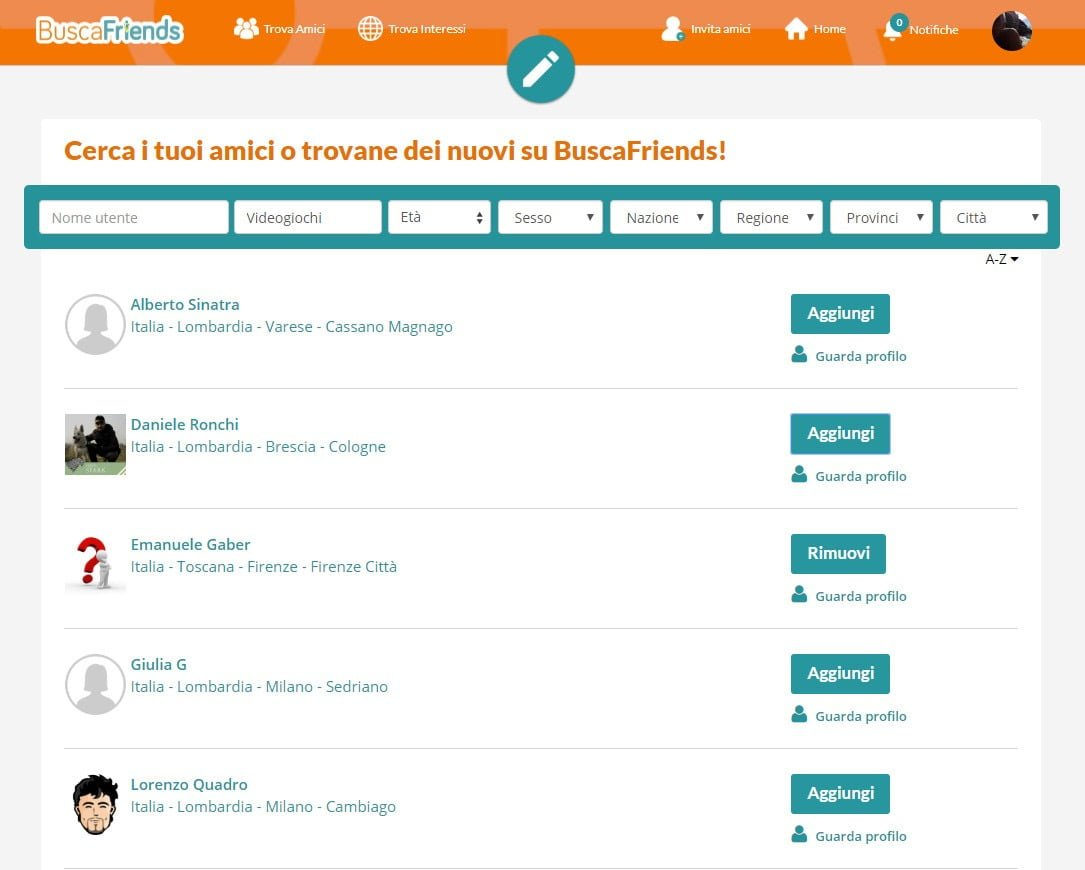 Buscafriends, Il Social Per Fare Amicizia In Funzione Dei Tuoi Interessi 3 - Hynerd.it