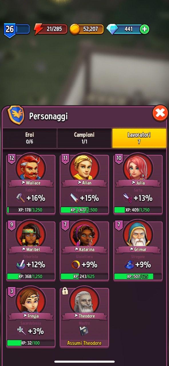 Shop Titans: Lavoratori