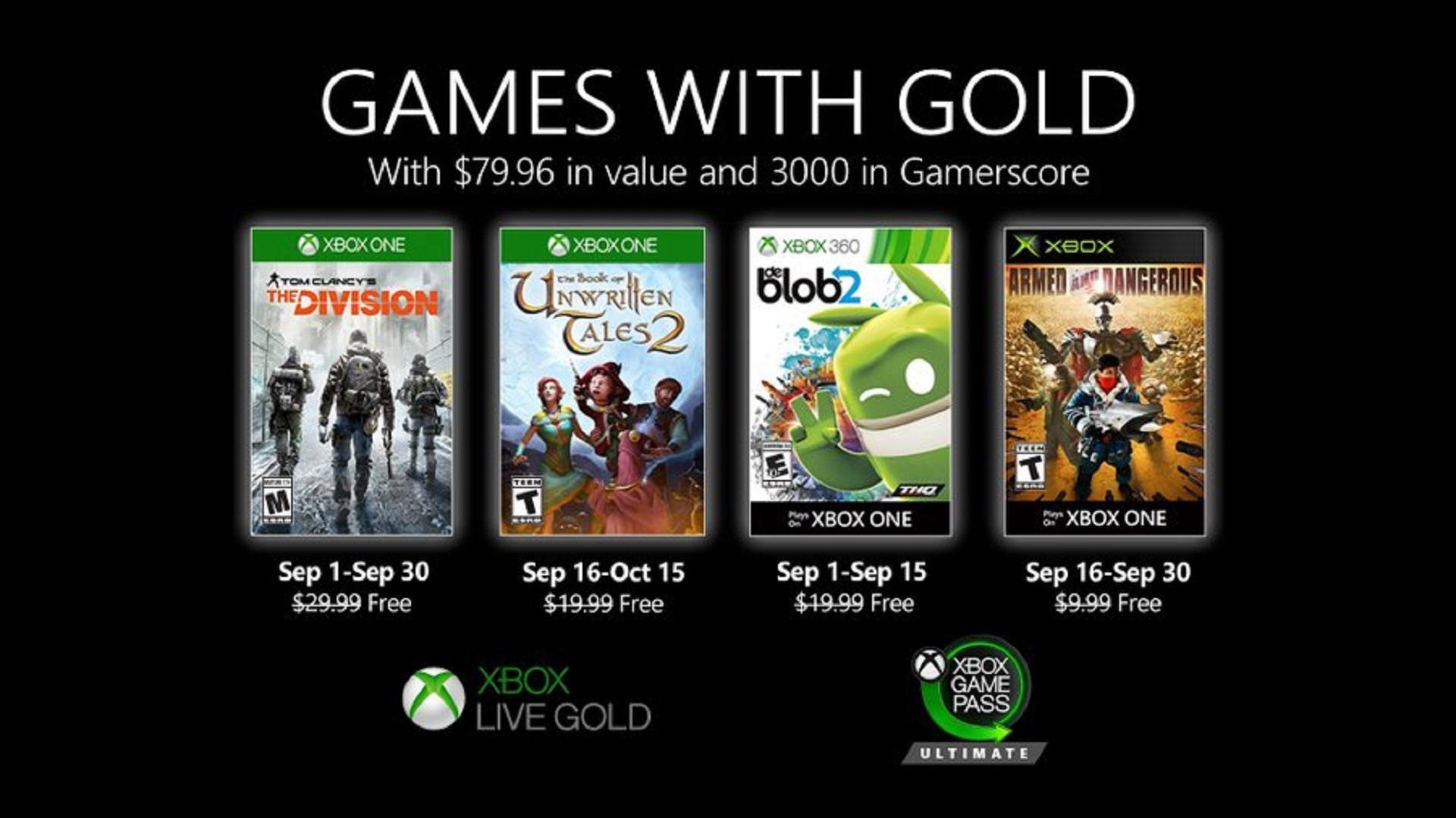 Games With Gold: I Giochi Gratis Di Settembre Per Xbox 3 - Hynerd.it