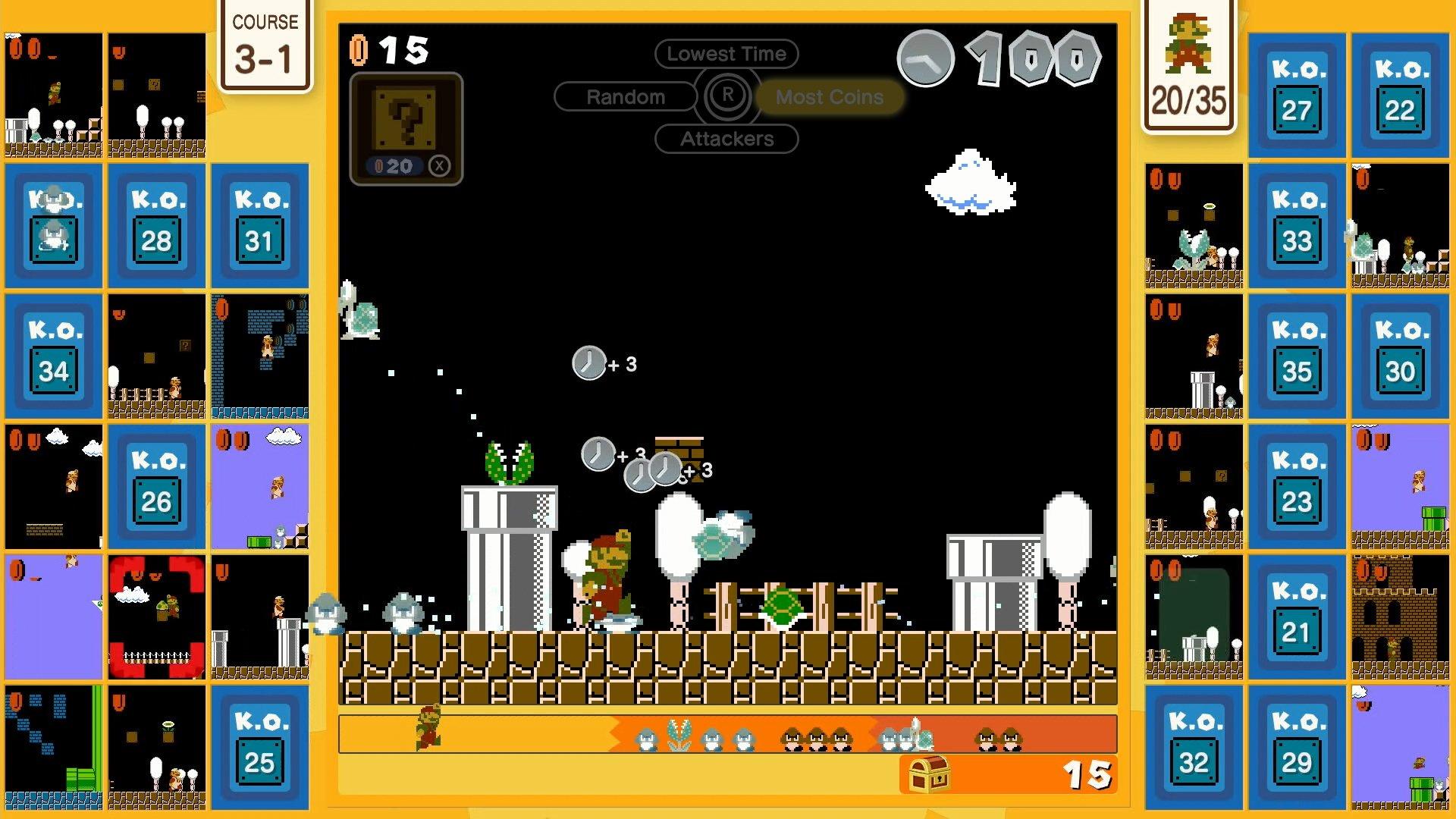 Una Normale Sfida A 35 In Super Mario 35.