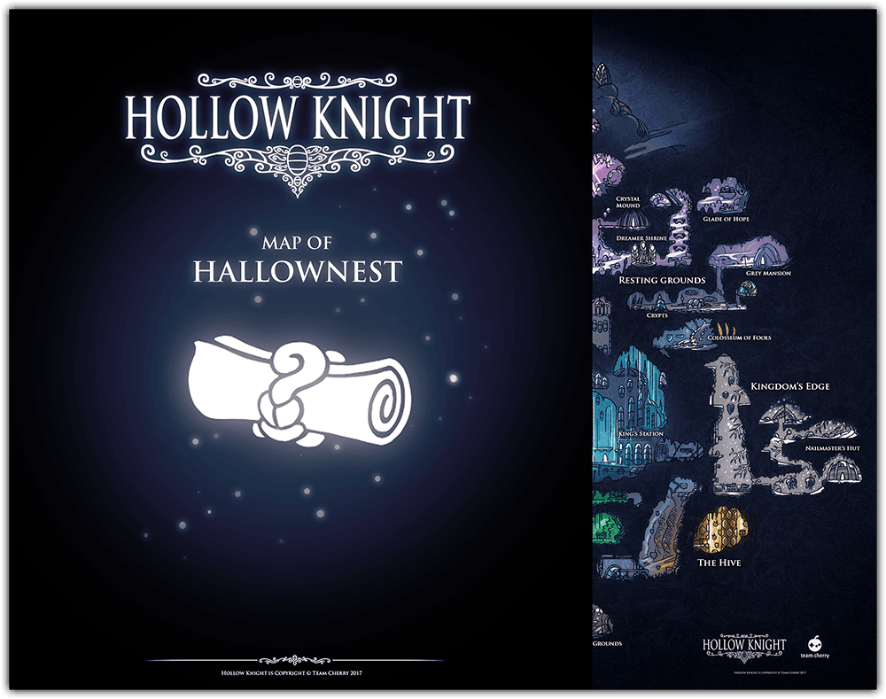 Mappa Di Hollow Knight Parzialmente Oscurata